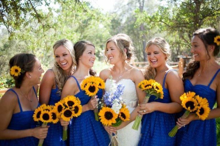 bouquet sposa girasole pinella passaro matrimonio