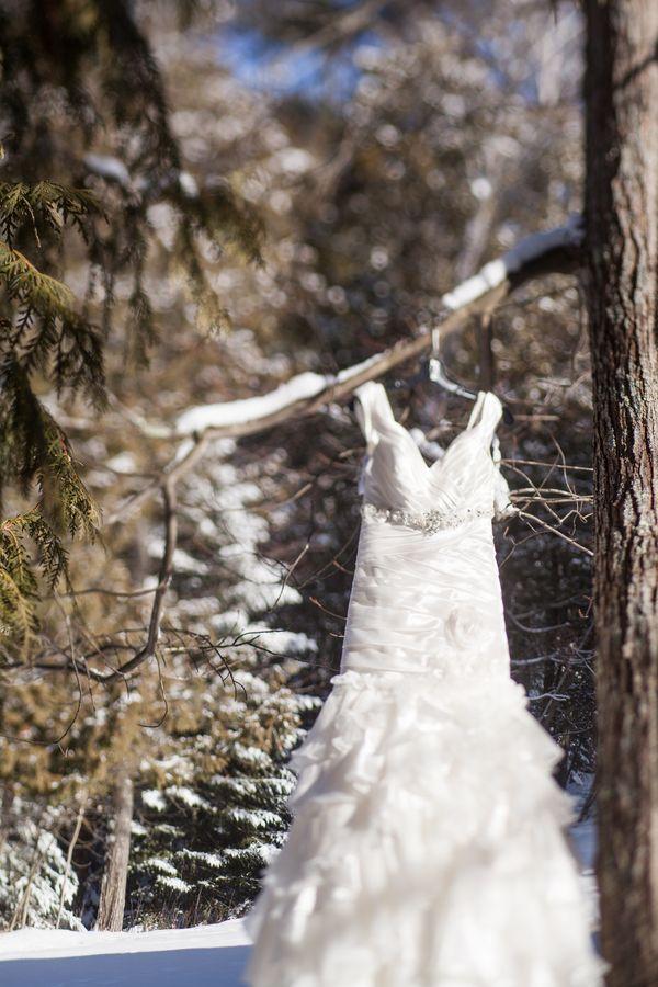 La sposa invernale e l'abito da sposa