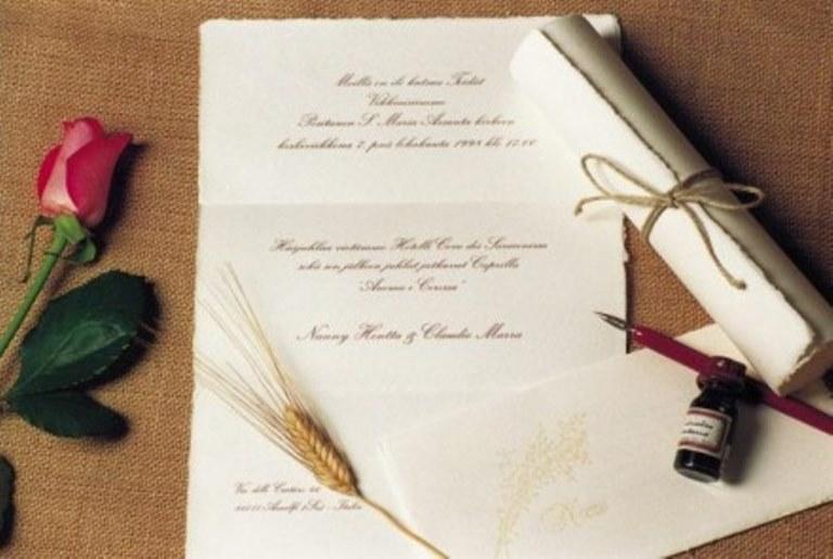 Partecipazioni Matrimonio Stile Rustico : Partecipazioni nozze matrimonio classiche pinella passaro