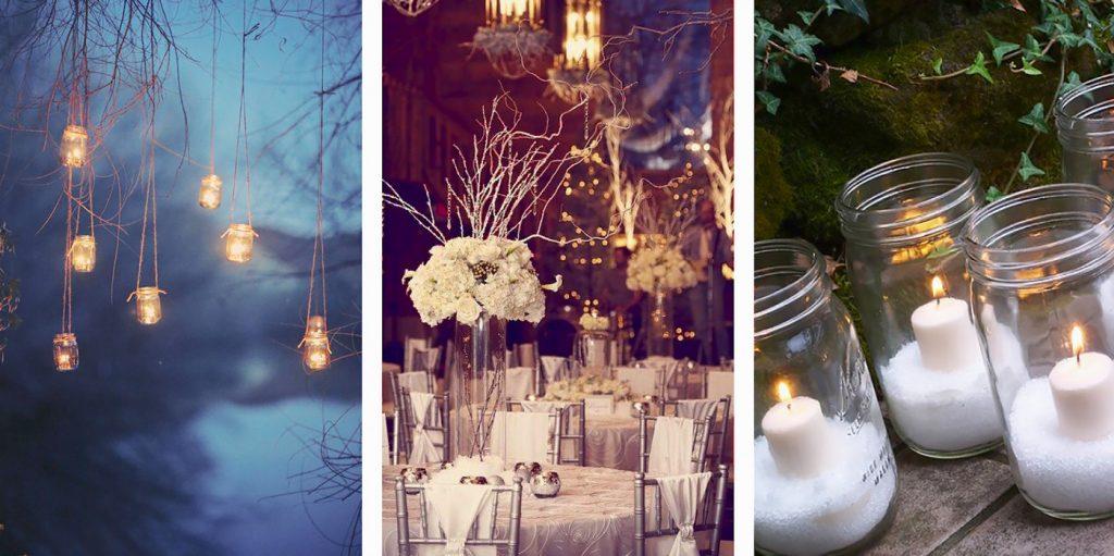 tavola idee matrimonio invernale