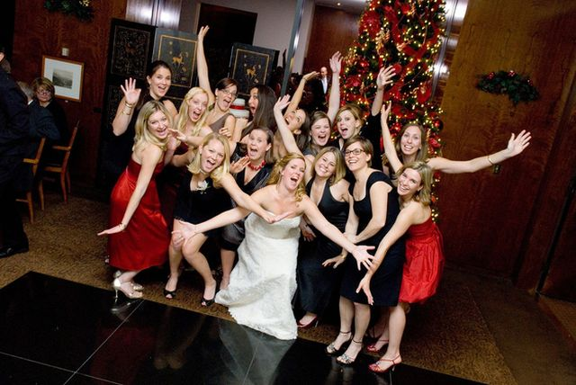Le damigelle e le amiche della sposa